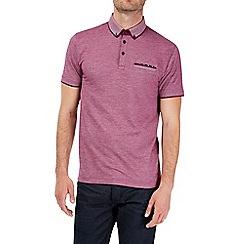Burton - Magenta birdseye texture polo shirt