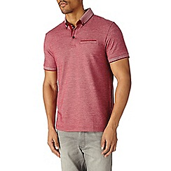 Burton - Red birdseye polo shirt