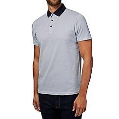 Burton - White ditsy print polo shirt