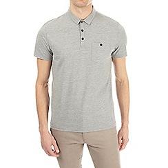 Burton - Grey jersey polo shirt