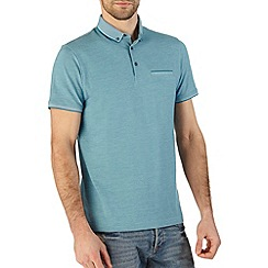 Burton - Turqouise pique smart polo shirt