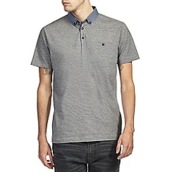 Burton - Grey feeder stripe polo shirt