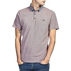 Burton - Pink feeder stripe polo shirt