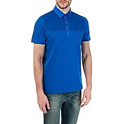 Burton - Cobolt blue cut and sew polo shirt