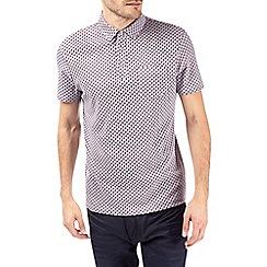 Burton - Burgundy printed polo shirt