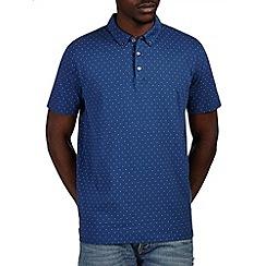 Burton - Blue polka dot casual polo shirt
