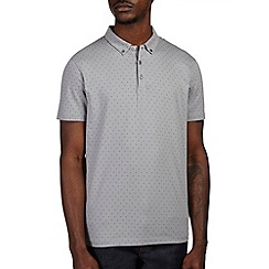 Burton - Grey polka dot casual polo shirt