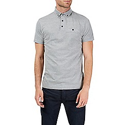 Burton - Grey marl polo shirt