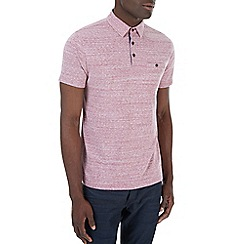 Burton - Pink textured polo shirt
