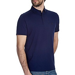 Burton - Navy blue smart polo shirt