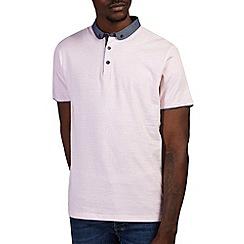 Burton - Pink print penny collar polo shirt