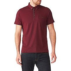Burton - Burgundy polka dot polo shirt