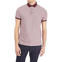 Burton - Red smart jacquard polo shirt