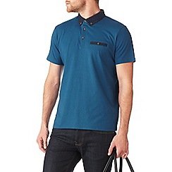 Burton - Blue paisley collar polo