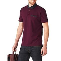 Burton - Purple geo collar polo