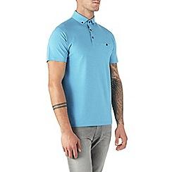Burton - Tropical blue polo shirt