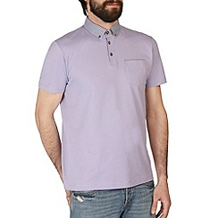 Burton - Lilac polo shirt with printed collar