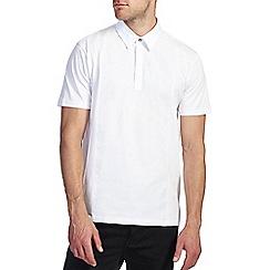 Burton - White smart front panel polo shirt