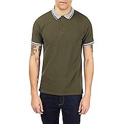 Burton - Khaki pique polo shirt
