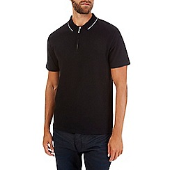 Burton - Black zip neck polo shirt