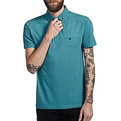 Burton - Turquoise smart polo shirt