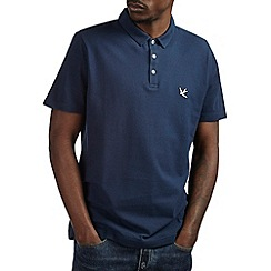 Burton - Navy blue pique polo shirt