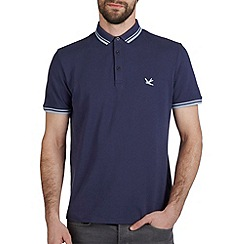 Burton - Navy blue hartley tipped polo shirt