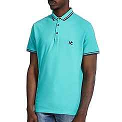 Burton - Green tipped pique polo shirt