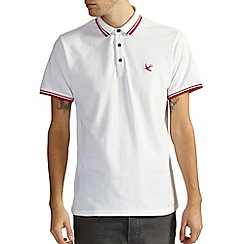 Burton - White hartley tipped polo shirt