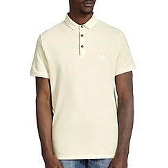 Burton - Yellow pique tipped polo shirt