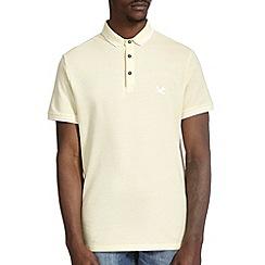 Burton - Yellow pique tipped polo shirt