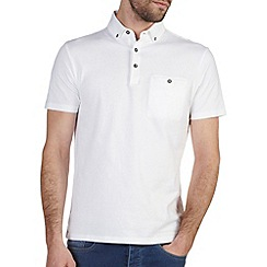 Burton - White casual polo shirt