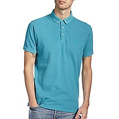 Burton - Green washed casual polo shirt