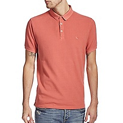 Burton - Pink washed casual polo shirt