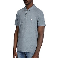Burton - Green marl casual polo shirt