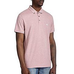 Burton - Pink marl casual polo shirt