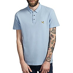Burton - Light blue pique polo shirt