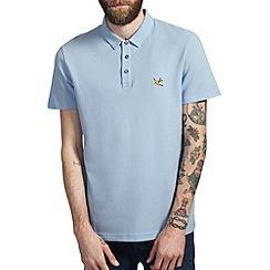 Burton - Light blue pique polo shirt
