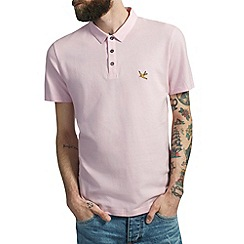 Burton - Light pink pique polo shirt