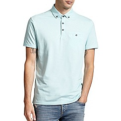 Burton - Mint button down smart polo shirt