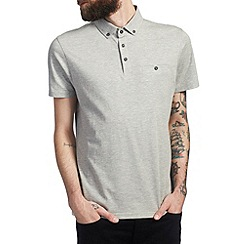 Burton - Grey smart polo shirt