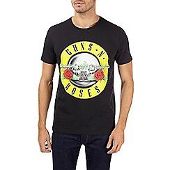 Burton - Black guns n roses slogan t-shirt