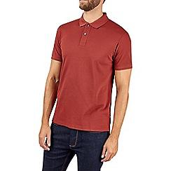 Burton - Montague burton mahogany pique polo shirt