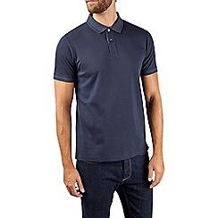 Burton - Montague burton navy pique polo shirt