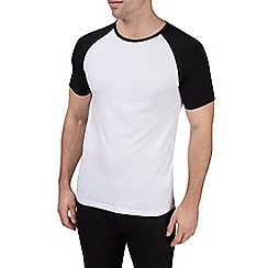 Burton - Black and white muscle fit t-shirt