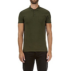 Burton - Forest green muscle fit polo shirt