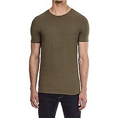 Burton - Khaki muscle fit t-shirt