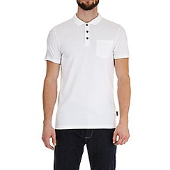 Burton - White short sleeve muscle fit polo shirt