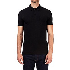 Burton - Black muscle fit polo shirt