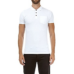 Burton - White muscle fit polo shirt
